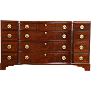 Traditional Sideboard, Server or Buffet, 12 Drawers, Signed Kittinger NY
