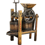 Apple Cider or Wine Press, Standard Medium 1900 Antique