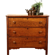 Country Pine Primitive Antique 1870 Chest or Dresser