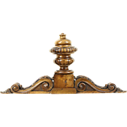 Carved Walnut Finial & Crest, 1890 Antique Architectural Salvage, Scandinavia