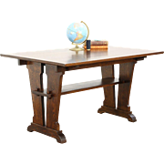 Arts & Crafts Mission Oak Library, Breakfast or Dining Antique Craftsman Table