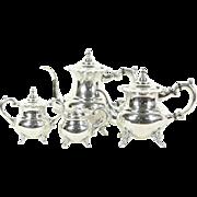 Sterling Silver Vintage Tea & Coffee Set, 4 pc. Japan 950