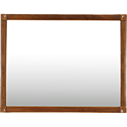 Victorian Eastlake 1890 Cherry Beveled Mirror, Vertical or Horizontal