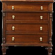 Chest Design 2 Drawer Antique Library File Cabinet, Signed Kittinger & Macey