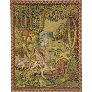 Needlepoint Vintage Tapestry, Leopards & Dragons, Belgium