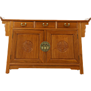 Teak Hand Carved Vintage Bar or Sideboard, Thailand