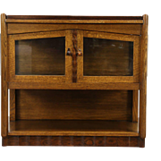 Art Deco 1925 Vintage Bar Cabinet & Tray, Oak & Rosewood, Scandinavia