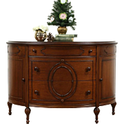Demilune Half Round Mahogany Hall Console Cabinet, Chest or Dresser