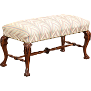 Cherry Antique 1910 Hand Carved Bench