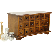 Apothecary Cabinet, Vintage 18 Drawer Collector or Jewelry Chest
