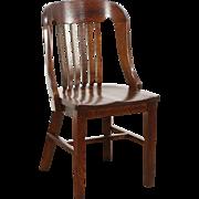 Oak 1915 Antique Library or Office Chair, Crocker of Sheboygan WI
