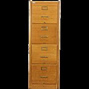 Oak Antique 1920 File Cabinet, 4 Drawers, Washington State