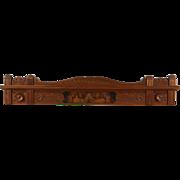 Victorian Eastlake Spoon Carved Walnut Burl Antique Architectural Salvage Crest