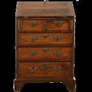 English Georgian 1830 Antique Small Beech Secretary Desk