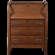 Arts & Crafts Mission Oak 1905 Antique Craftsman Secretary Desk