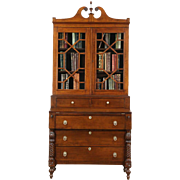 Sheraton 1830 Antique Curly Tiger Maple Secretary Desk U0026 Bookcase. Harp  Gallery Antique Furniture