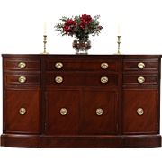 Traditional Vintage Mahogany Sideboard, Server or Buffet, Signed Rway