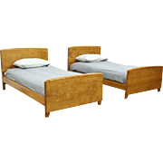 Midcentury Modern 1950's Vintage Pair of Twin Beds, Heywood Wakefield