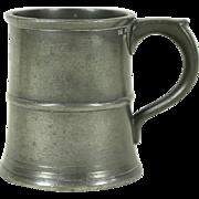 Pewter Antique Half Pint Mug, Royal Inspection Stamps
