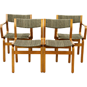 Set of 4 Midcentury Modern 1960's Vintage Teak Dining Chairs, Denmark