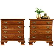 Pair of Traditional Cherry Nightstands, End or Lamp Tables, Signed Ethan Allen