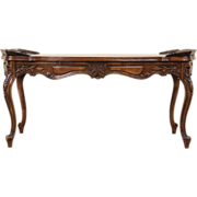 French Style Carved Marquetry 1940 Vintage Cocktail or Coffee Table