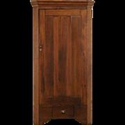 Country Pine 1890 Era Antique Corner Cupboard