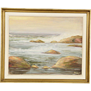 Seascape Original Oil Painting, Signed S. Bernadyn 1979