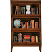 Arts & Crafts Mission Oak 3 Stack 1910 Antique Lawyer Bookcase