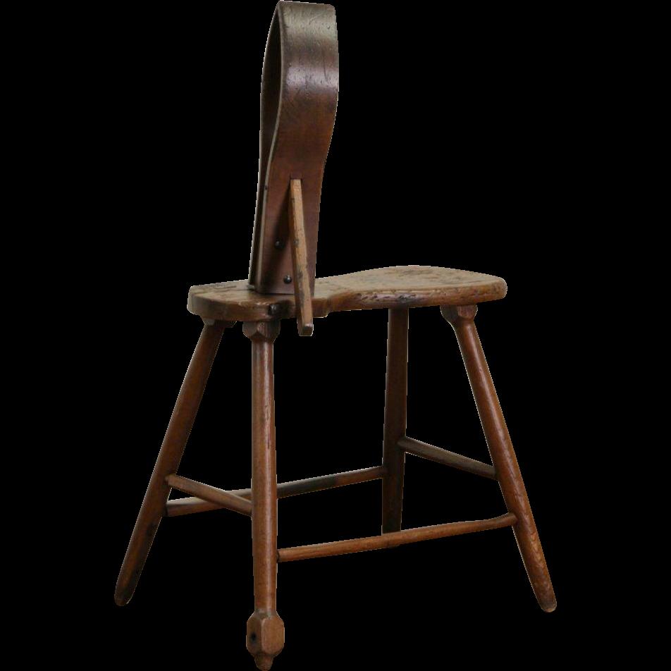 Horse Harness Maker or Saddler Antique 1900 Work Bench for Leather