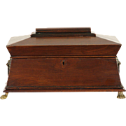 English Regency 1820 Antique Tea Poy or Caddy, Jewelry Box