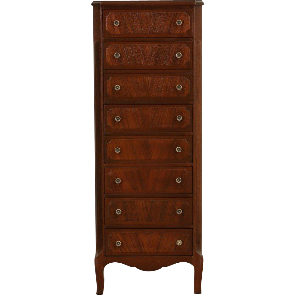 Lingerie Chest, Mahogany & Rosewood 1950 Vintage, Signed Colonial,
