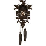 German Black Forest Hand Carved Vintage Cuckoo Clock