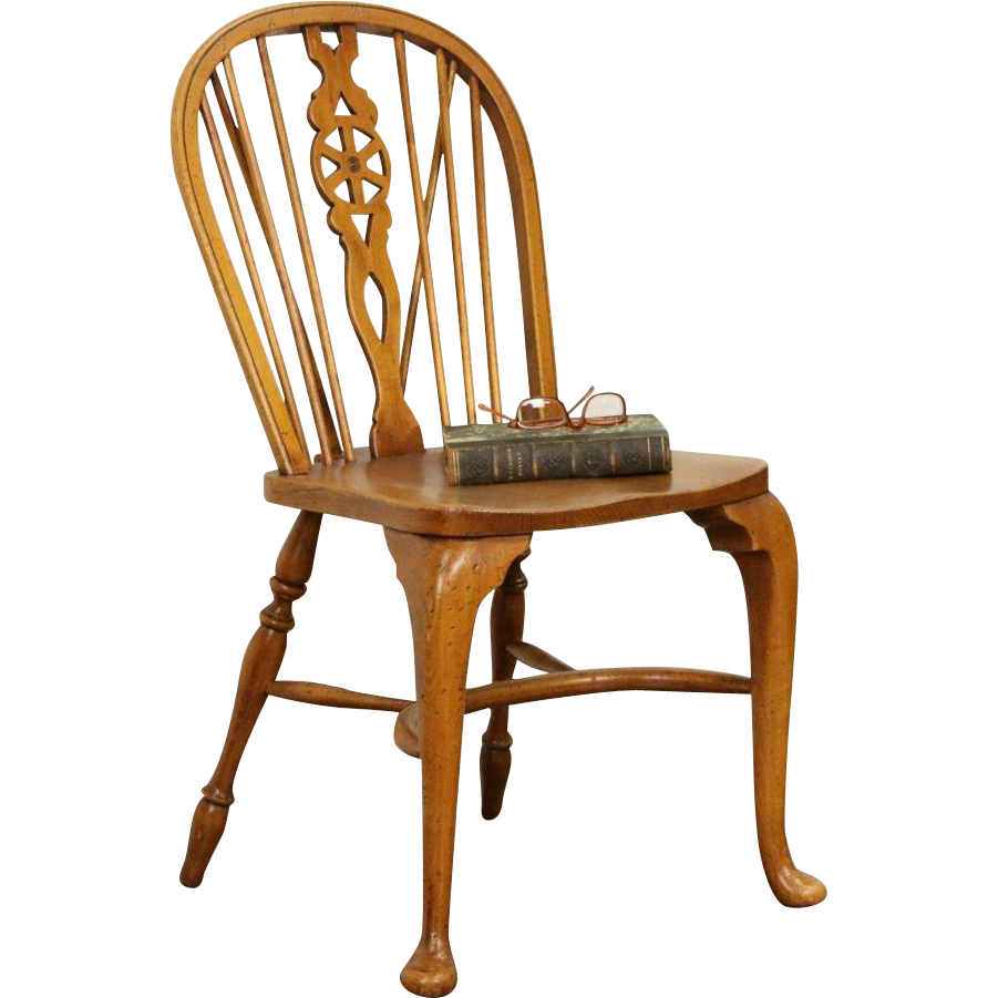 Windsor Vintage Desk or Side Chair, Signed Smith and Watson, NY