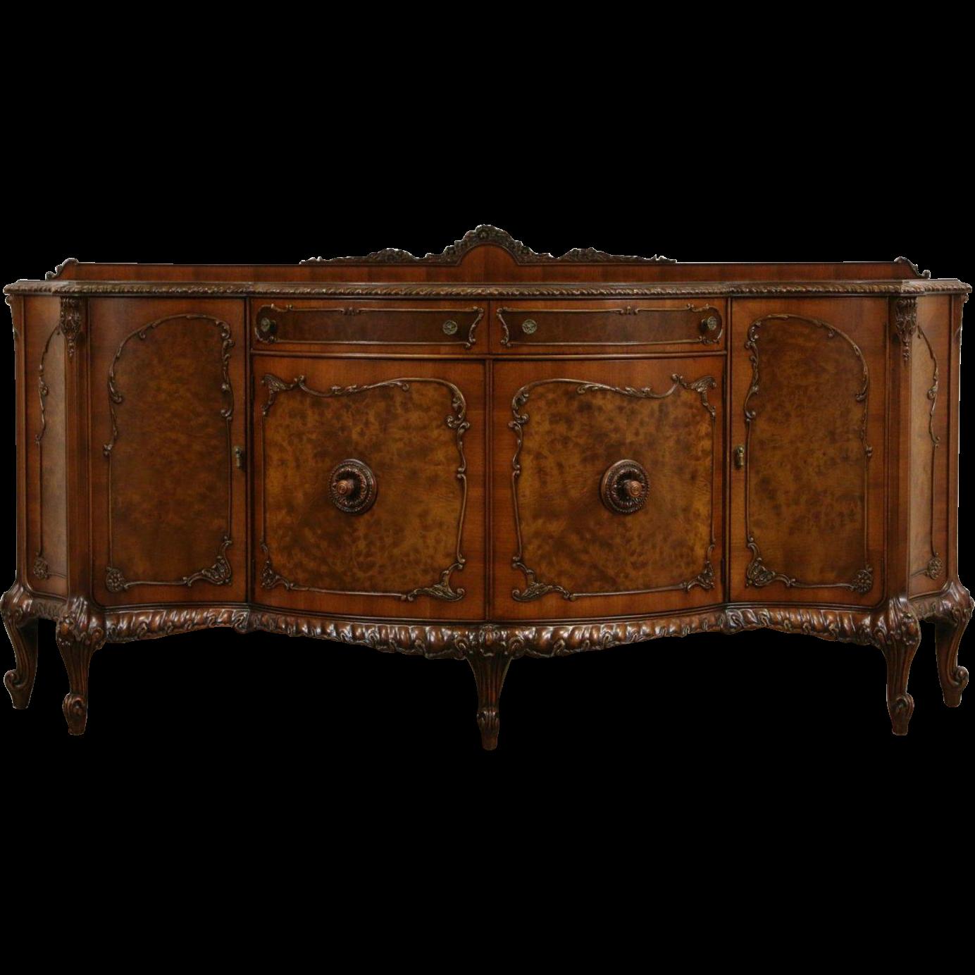 Romweber louis xv de gaulle carved sideboard server or buffet from