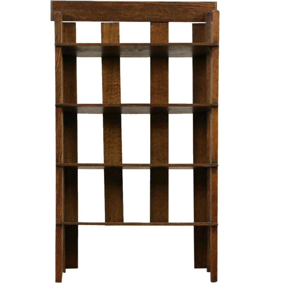 Arts & Crafts Mission Oak 1910 Antique 1910 Craftsman Bookshelf