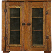 Rustic Country Pine 1900 Antique Pantry Pie Safe