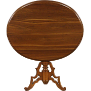 Cherry 1840's Antique Oval Tilt Tip Breakfast, Game or Tea Table