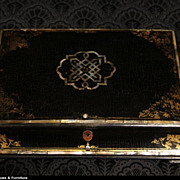 Papier Mache and Pearl English 1850 Writing or Jewelry Box