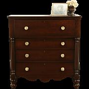 Empire 1830 Antique Cherry Chest or Dresser, Original Brasses
