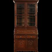 Victorian Walnut 1860's Antique Secretary Desk & Bookcase