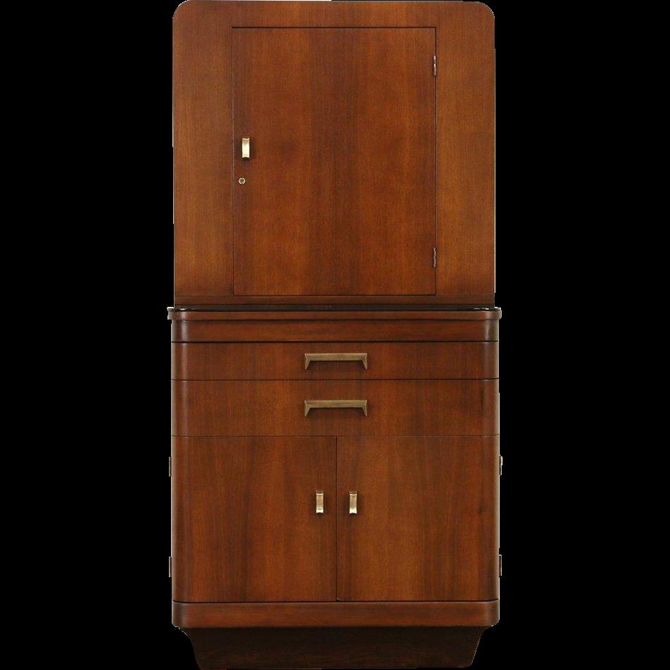 Physician Art Deco 1940 Vintage Doctor Medical or Bath Cabinet, Hamilton