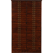 File or Collector Cabinet, Jewelry Chest, 1910 Antique 50 Drawers