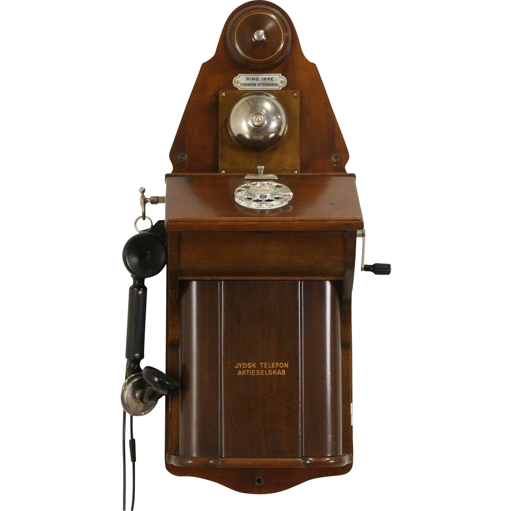 Scandinavian 1915 Antique Wall Phone