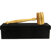 Gavel Made from 20 Species of Wood, Presentation Box, St. Paul Hill Estate
