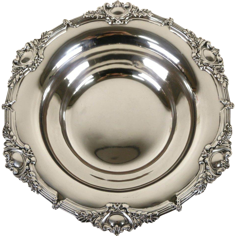 Sterling Silver Embossed 1900's Antique Bowl, 15.8 Oz.