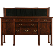 Georgian Mahogany 1915 Antique Sideboard, Server or Buffet, Mirror