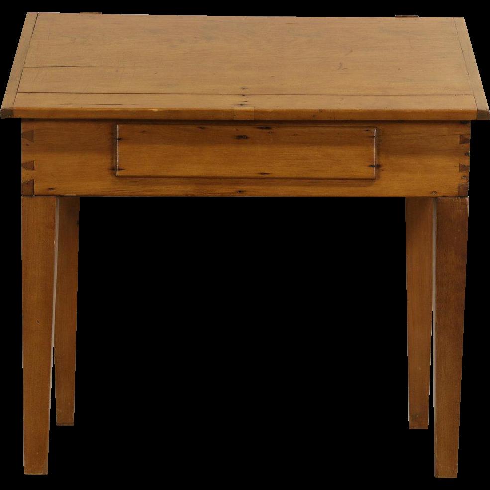 Country Pine 1860's Missouri Primitive Schoolmaster Desk