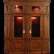 Traditional Cherry Entertainment Center Curio Cabinet