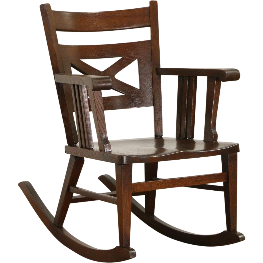 Arts and crafts chairs - Arts Crafts Mission Oak 1910 Antique Rocking Chair Or Craftsman Rocker